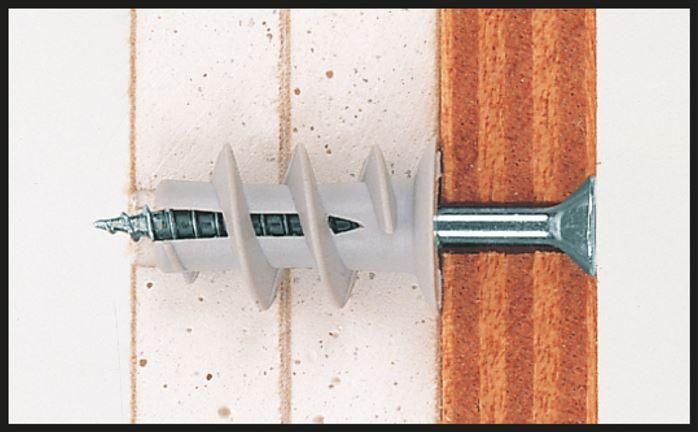 Рис. 15 Крепление реек на дюбель-гвозди