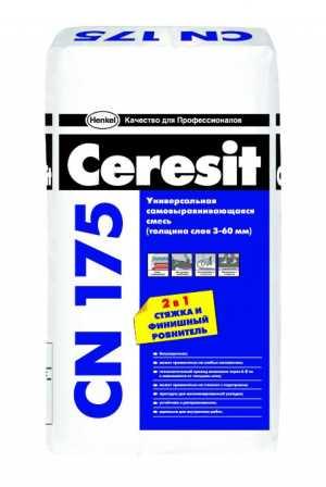 Универсальная самовыравнивающаяся смесь Церезит СН175