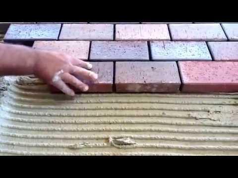 Монтаж тротуарной плитки на плиточный клей