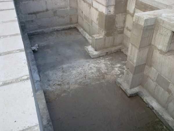Подбетонка для наплавления гидроизоляции
