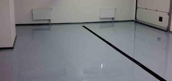 Полимерный наливной пол для гаража