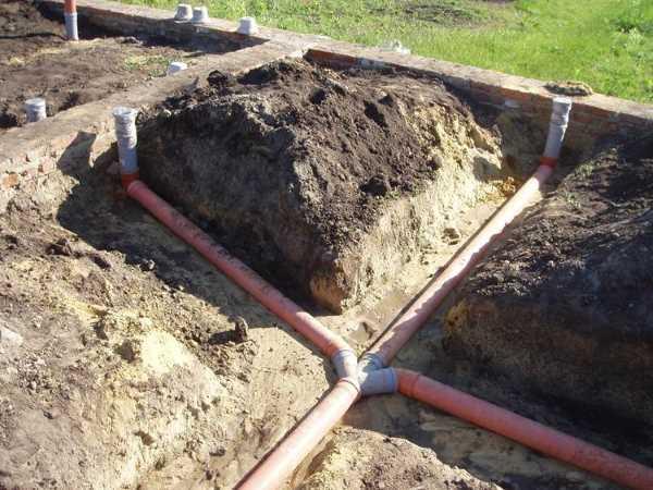 Разводка инженерных систем под полом по грунту