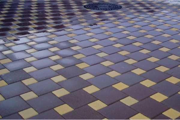 Тротуарная плитка - квадрат