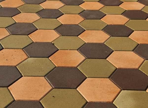 Тротуарная плитка - шестигранник