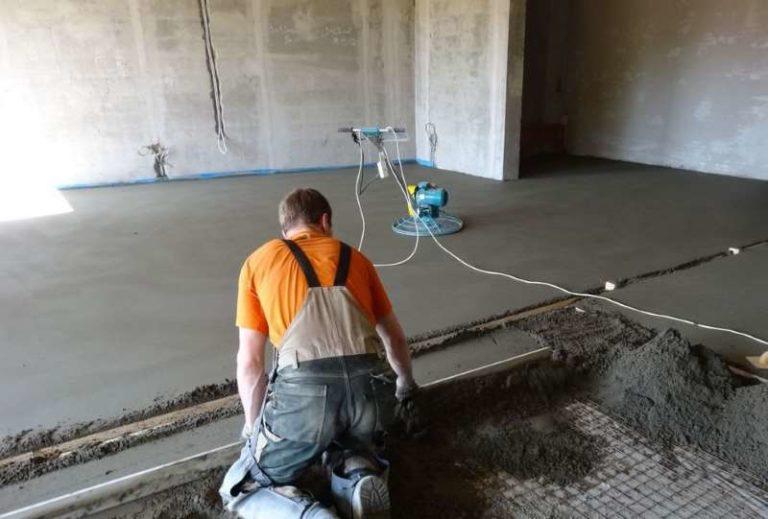 Полусухая стяжка бетона креативный бетон