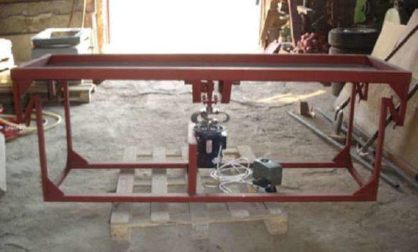 Ременная подвеска столешницы вибростола