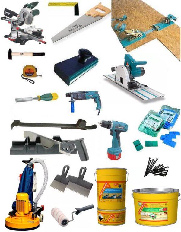 Набор инструментов для укладки инженерной доски