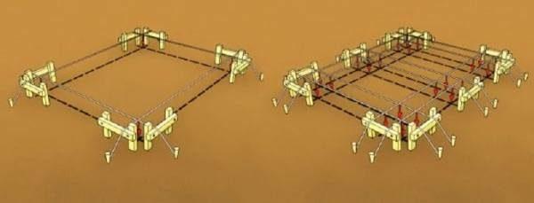 Натяжка струн по обноскам