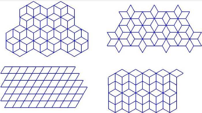 Схемы раскладки плитки Ромб