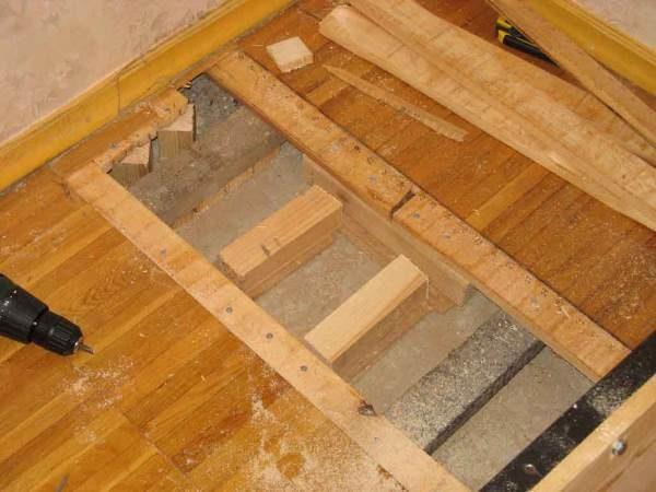 Усиление деревянного пола