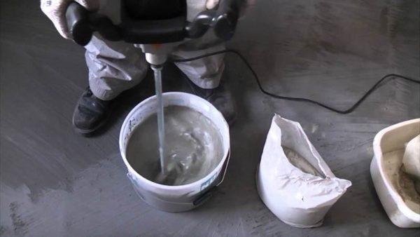 Приготовление наливного пола