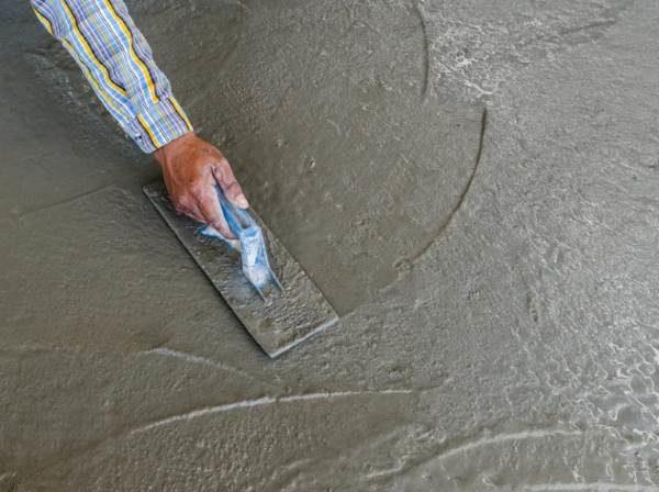 Железнение цементным тестом