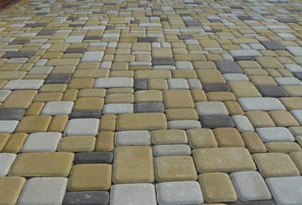Мощение плитки Старый город мозаичное