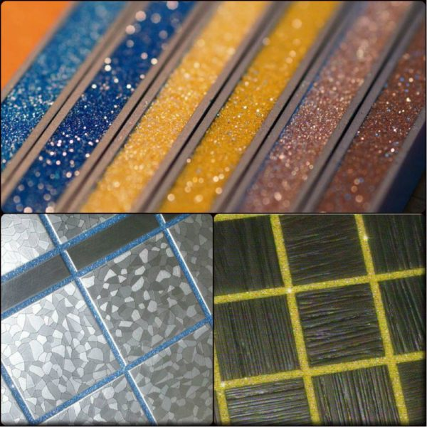 Затирка для плитки с декоративными блестками