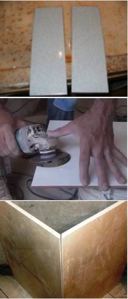 Виды резов плитки болгаркой