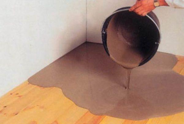 Выравнивание деревянного пола наливными смесями