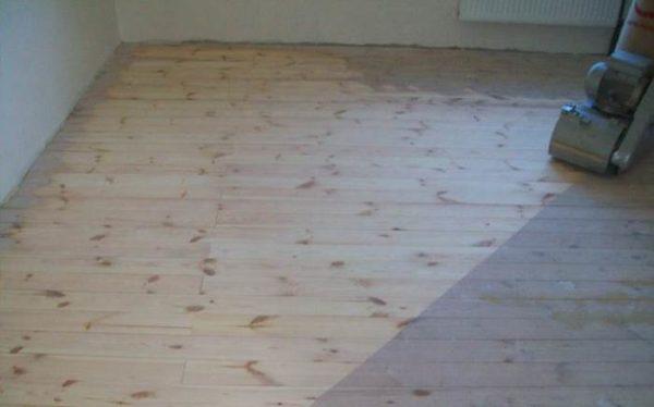 Шлифование деревянного пола