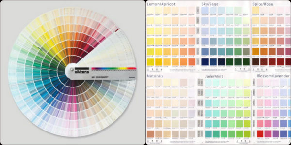 Цветовые палитры: веер, буклеты