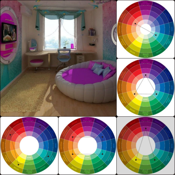 Комплементарные схемы сочетания цветов