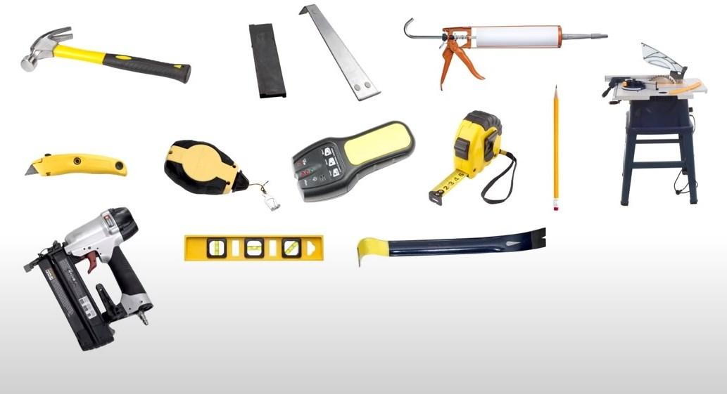 Рис. 8 Необходимый набор инструментов