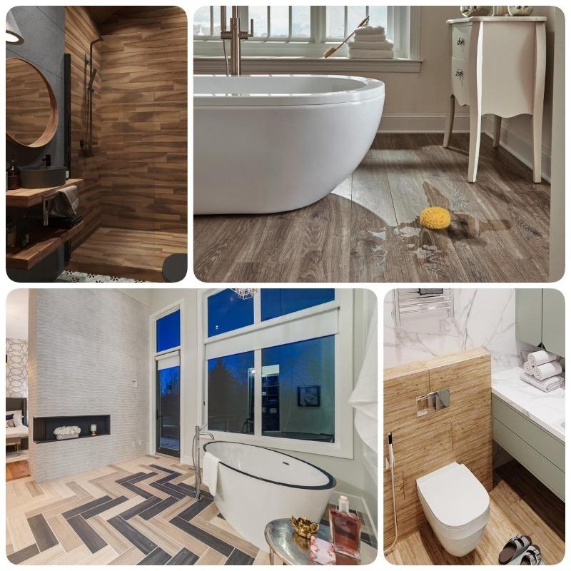 Кварцвиниловая плитка – 50+ идей для ванной