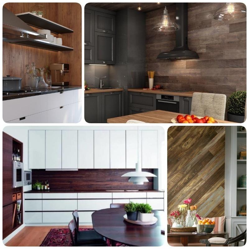 Ламинат на стену в кухне — 70 идей для ваших затей