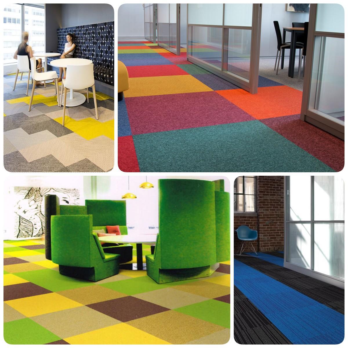 Что нужно знать о ковровой плитке, плюсы и минусы материала